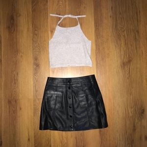 Forever21 leather skirt